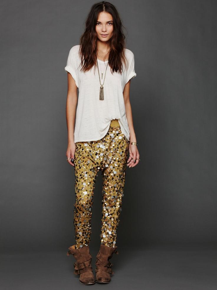 free people disco pants! so fun!