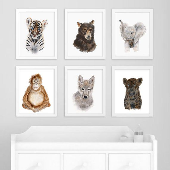 Black Jaguar Print Jungle Nursery Art Panther Wall