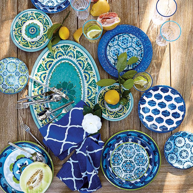 Beautiful Fashion Forward Outdoor Dinnerware Steals The Scene. | Frontgate