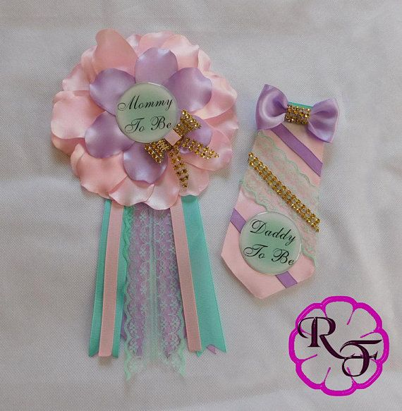 Baby Shower Corsage Mommy To Be Corsage Pastel Colors Unicorn