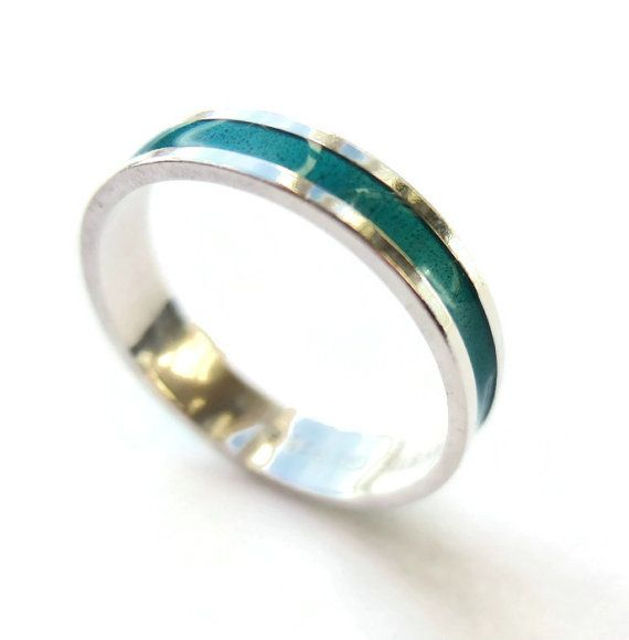 SOLD. Vintage David Andersen enamel and sterling silver ring, Norwegian silver, modernist ring, teal / turquoise colour, 925 silver, 1970s, https://www.etsy.com/listing/216122719/vintage-david-andersen-enamel-and