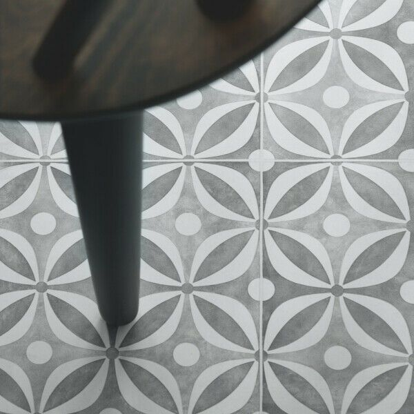 Cement Tile Effect Sheet Vinyl Flooring Kitchen Bathroom Lino Roll Quartz Grey Pickndecor Home Bathroom Cement Effect Floor 2020 Mutfak Zemini Vinyls Ebay