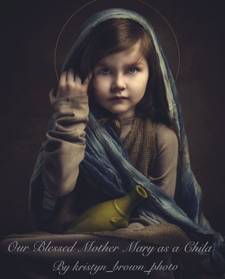 Our Blessed Mother Mary As A Child