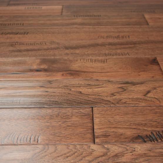 Best Hickory Wild 3 4 X 5 Hand Scraped Solid Hardwood Flooring 400 x 300