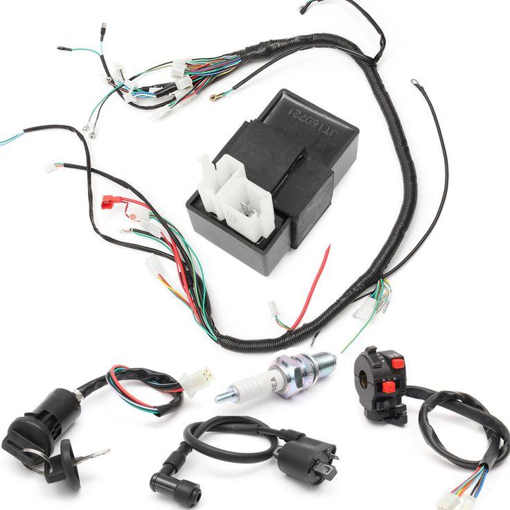 150cc 200cc 250cc Wiring Harness Loom Solenoid Coil Regulator CDI for ATV Quad Bike