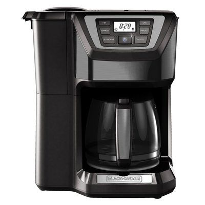 Black & Decker 12-Cup Mill and Brew Programmable Stainless Steel Coffee Maker with Built-in Grinder Color: