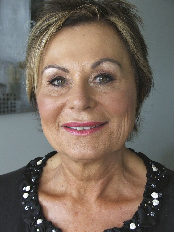 Mother of the Bride Marlene with fresh, warm pink lips and pearly eyeshadows for a youthful, lifted look, 2011.  Love how fresh and vibrant she looks in her Cutters Cove, Mount Maunganui apartment.