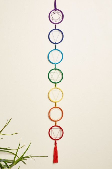 Chakra Symbol String Dreamcatcher - Earthboud Trading Co.                                                                                                                                                                                 More