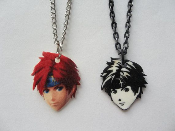 Roy Fire Emblem Super Smash Bros Necklace by TeamRocketWolf