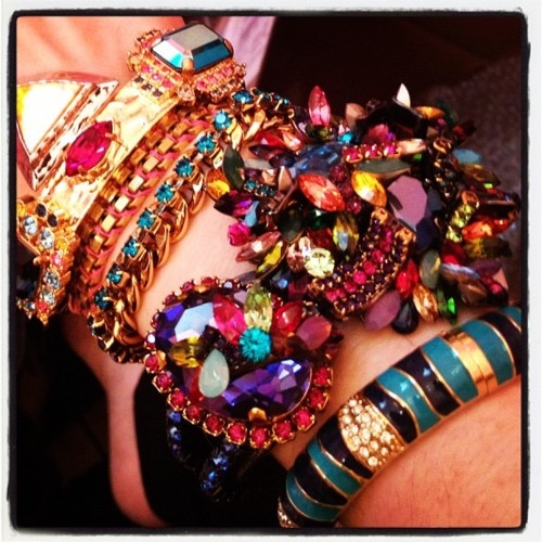 Sneak peek at my wrist army from today's @refinery29 Wrist Wars shoot! (Taken with instagram)