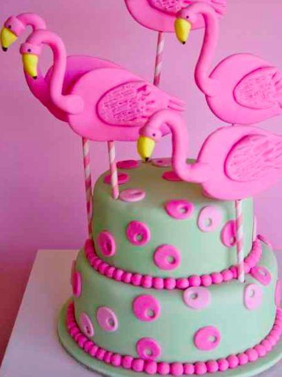 party flamingo cake