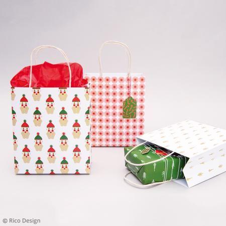 Bolsas de papel Puristic Christmas - 3 pcs - Fotografía n°3
