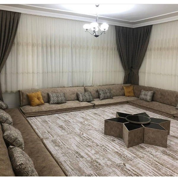 Gray Oriental Arabian Seating Set In 2021 Living Room Design Decor Home Room Design Table Decor Living Room