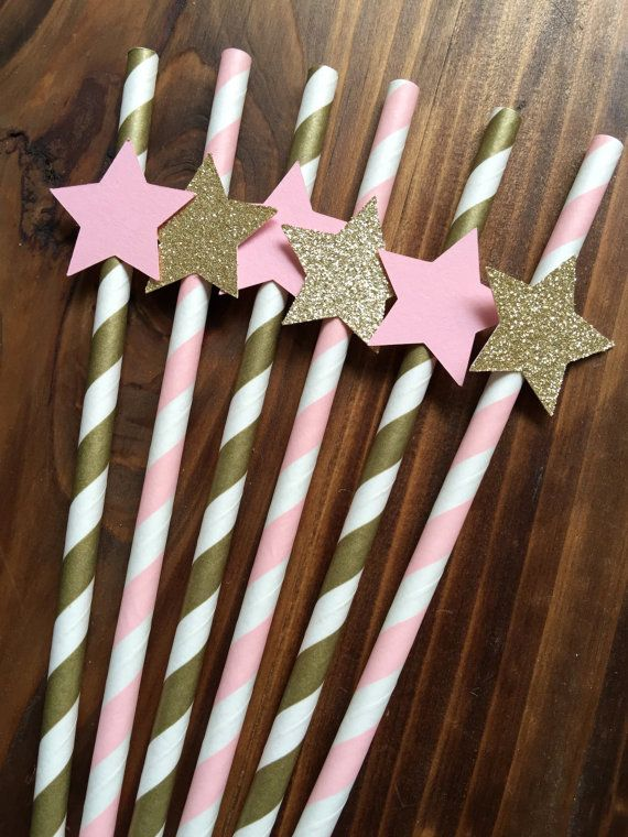 12 Twinkle Twinkle Little Star Baby Girl Pink by papermeblossom
