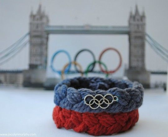 Olympic braceletsOlympics Ideas, Things Parties, Rings Charms, London Olympics Rings, 15 Olympics, Londonolymp Rings, Rings Bracelets, Lyn Murphy, Olympics Parties