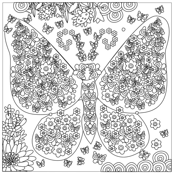 free of flowers and butterflies stress relief coloring book - Coloring Pages Butterfly