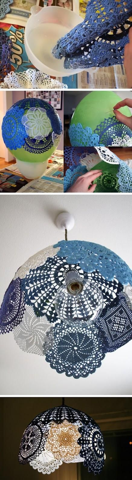 Vi synes det kunne være godt, hvis vi enten kunne bruge en stor rund ballon eller papmache til vores indvendige lampeskærm.