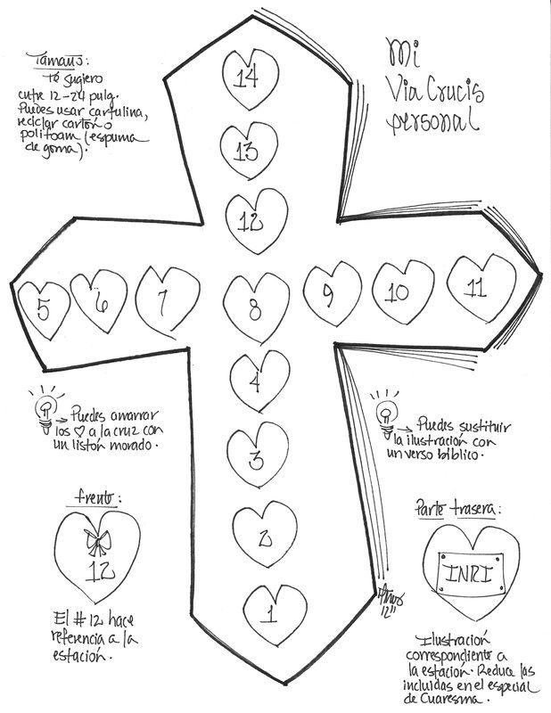 He creado para este especial de Cuaresma unas ilustraciones inspiradas en las 14 estaciones del Santo Vía Crucis.