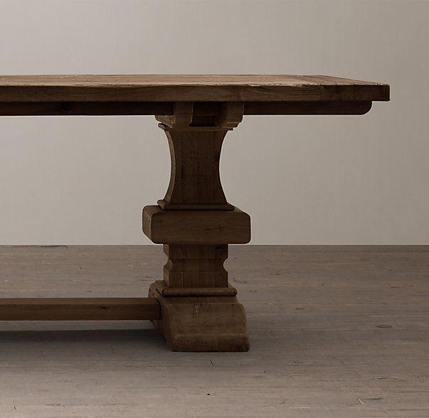 Artur Extending Dining Table In 2019: Reclaimed Russian Oak Baluster Rectangular Extension