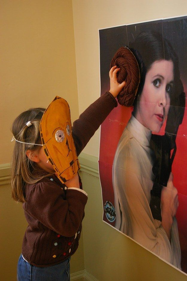 And you can't forget this twist on a classic: pin the bun on the Leia. | 23 Ways To Throw Your Kid The Best Star Wars Birthday Party Ever
