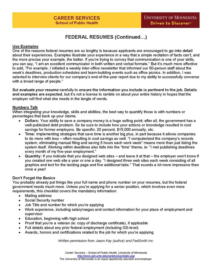 10 best Resume Guide images on Pinterest Resume tips, Job search - federal resumes