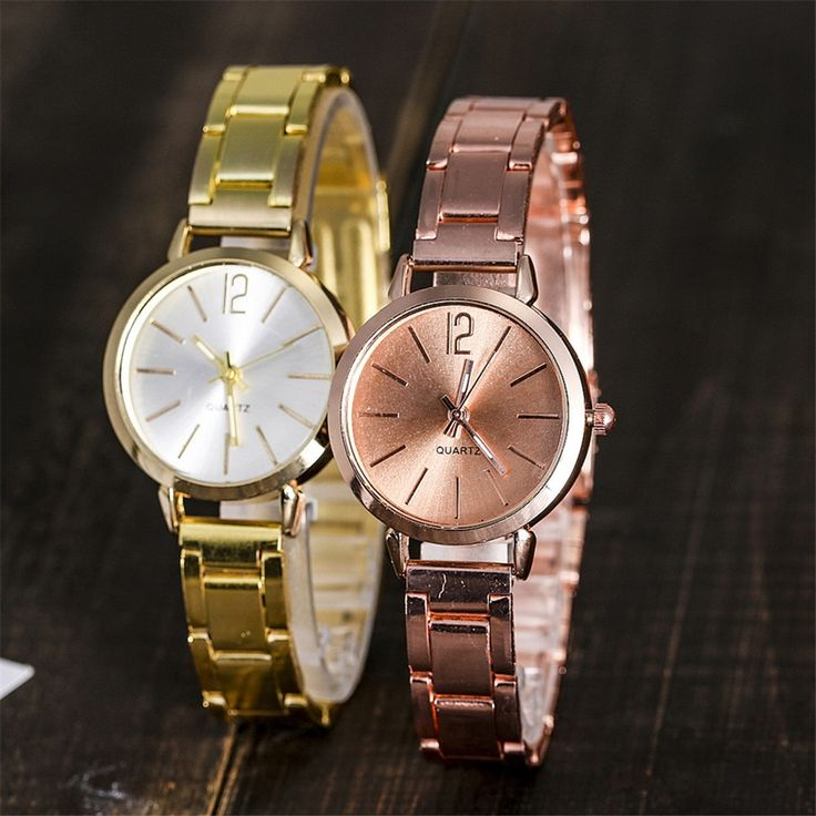 montre femme 2018 fashion ladies wrist watches Casual Gold Sliver Quartz Stainless Steel Band Clock Watch reloj mujer