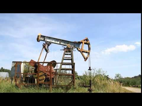 Working Oil Pump | Stock Footage | Industry