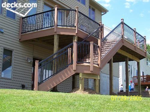 21 best deck ideas images on pinterest patio ideas for High elevation deck plans