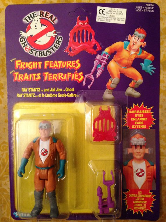 Ray Stanz the Real Ghostbusters Fright Features Vintage Action Figure MOC 80s Retro Vintage Pop Culture Cult Classic Toy Collectible $50