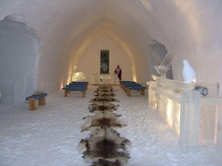 Ice Chapel at Hotel Kakslauttanen in Finland
