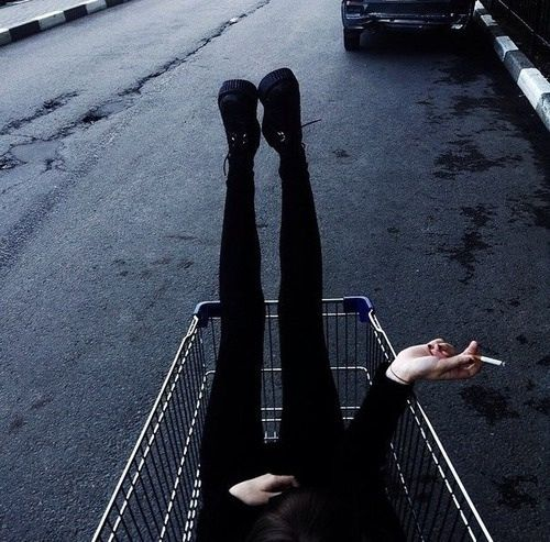 love girl fashion rock black Grunge dark punk comb…
