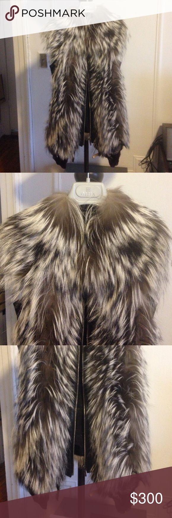 Gizia real fur  vest This is a Gizia brand vest. Made in Turkey. 100% real fur. Has some leather details on the backs! It's so warm and look very chic . If you see very close  you might mention that it's been worn. But hey! I bought it for 750$! And it's a real fur! . If you need closer pictures just ask😉. And also Feel free to make a reasonable offer in any of my listings!😘 gizia Jackets & Coats Vests