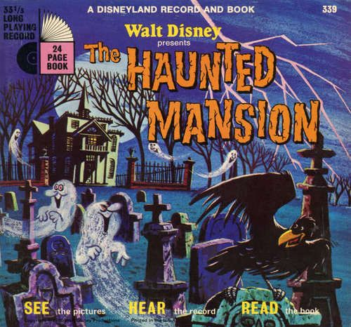 Walt Disney's Haunted Mansion record and book - 1970