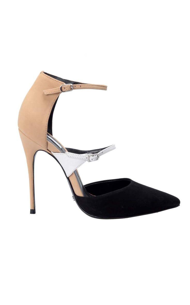#Schutz Colorblock suede pump, click here -> http://www.bagheeraboutique.com/en-US/designer/schutz_calzature