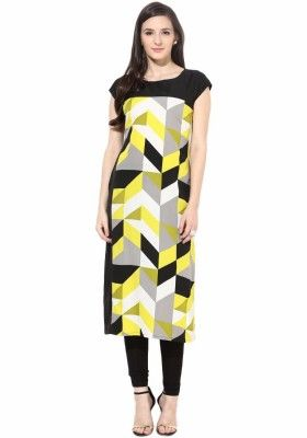 Exclusive Yellow Print Designer Kurti