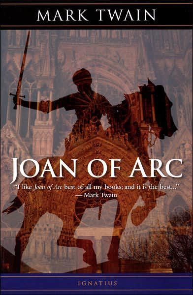 Joan of Arc.  I am a fan of Mark Twain as a writer in general, but this is my favorite of all his books.  I love how he went to France and actually read the archives of her trial.  I like how he used the original source materials and only then wrote his Historical Fiction.