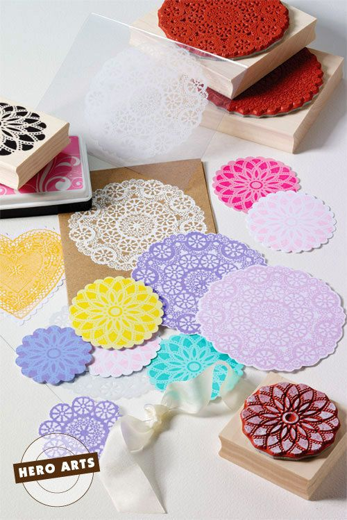 Circle Lace (Doily Rubber Stamp) Woodblock Craft Stamp • Scrapbooking • Crafting • Card Making • DIYing (S5319)