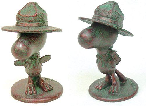 Homestyles #52143 Woodstock Scout 4 Bronze Patina with Hat Collectible Figure Painted from The Snoop @ niftywarehouse.com