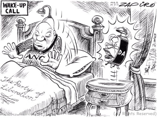 With the results of the 2011 municipal elections in, Zapiro asks whether this will be a wake-up call for Jacob Zuma and the ANC? | www.zapiro.com