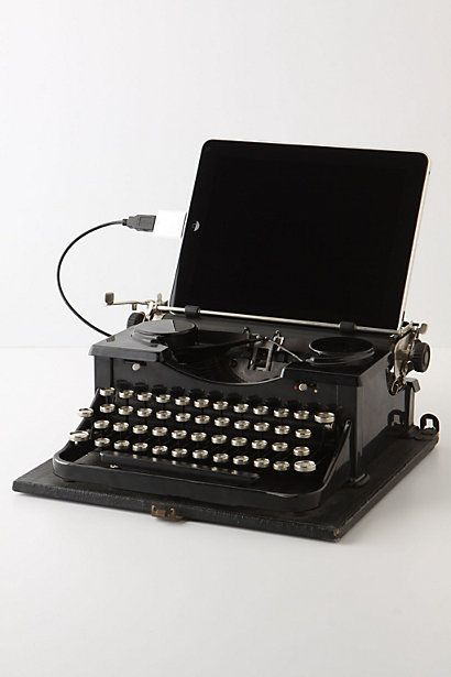 Dock your iPad or plug-in your desktop and type away with the satisfying click-clack of a vintage Royal typewriter. Repurposed by Philadelphian Jack Zylkin, this ingenious machine melds era-spanning technologies, and when unplugged, can still be used as originally intended.- I'll take 5 please