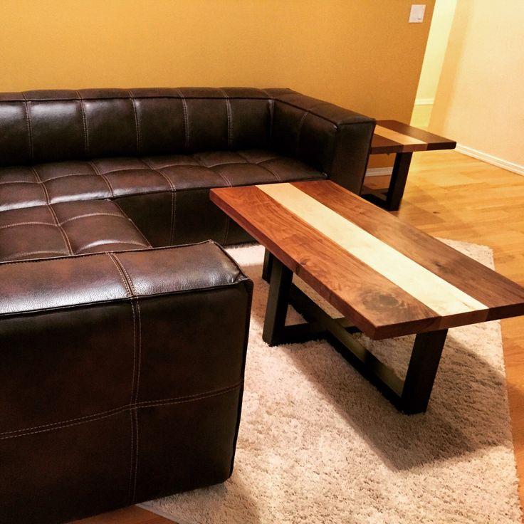 urban industrial furniture. coffee table walnut industrial modern hardwood urban furniture l