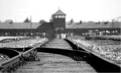 La Bahnrampe, la rampa dei treni, all'interno del campo di Birkenau dove, dal 1944, arrivavano i convogli dei deportati