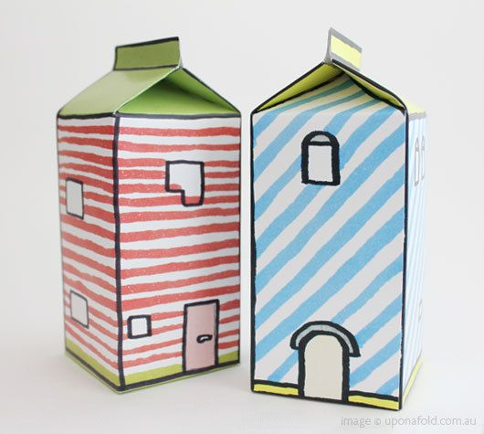 House Craft - Kids could use half gallon milk cartons and make houses, then measure for length, height, width, area, perimeter, etc.