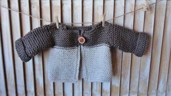 Baby Knit Sweater Newborn Handknit Children Clothing Wood Button                                                                                                                                                                                 Mais