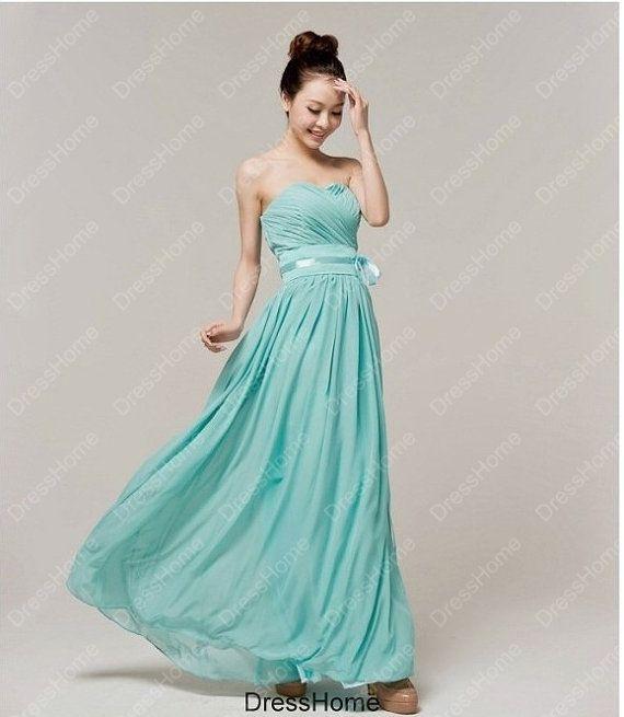 Mint Bridesmaid Dress - Blue Bridesmaid Dress / Cyan Bridesmaid Dress / Long  Bridesmaid Dress / Mint Prom Dress