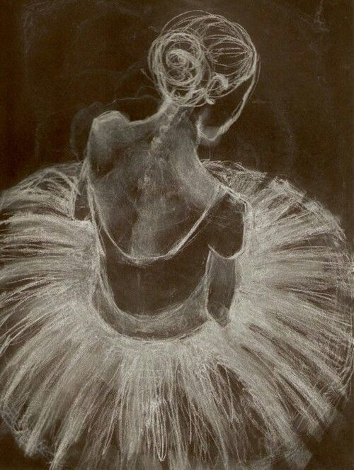 'Ghost Tutu' by Edgar Degas #pastels #pencil #charcoal #art