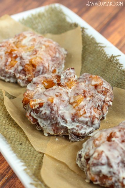Apple Fritters Recipe | JavaCupcake.com ~ The best way to enjoy these warm, chewy, crisp on the edge full of delicious flavor Apple Fritters is with a big cup of coffee and your loved ones!  Perfect for a cold fall Saturday!