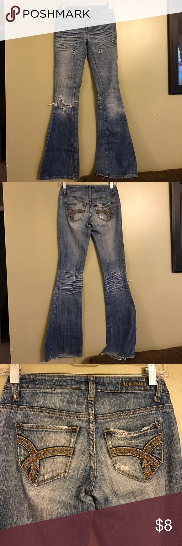 Cute pair of Distressed jeans Size 0 distressed jeans. ZCO Jeans Flare & Wide Leg