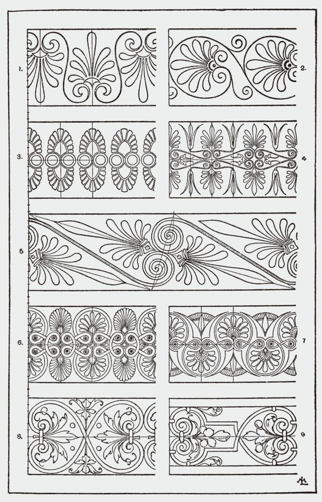 Orna092-Palmettenband - Category:Meyer's Ornament - Wikimedia Commons