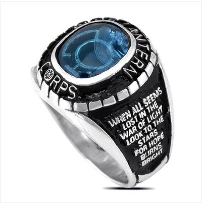 """Ooh, that is really cool and really captures the spirit of the lantern rings. """"Blue Lantern Corps class ring"""""""